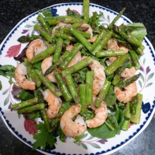 Guest Post! Shrimp and Asparagus Salad