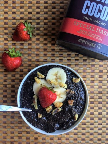 Dark Chocolate Chia Pudding