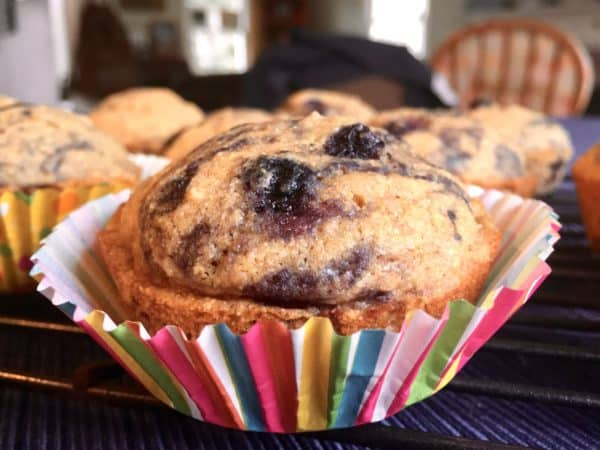 Whole Grain Blueberry Corn Muffins - Juggling with Julia