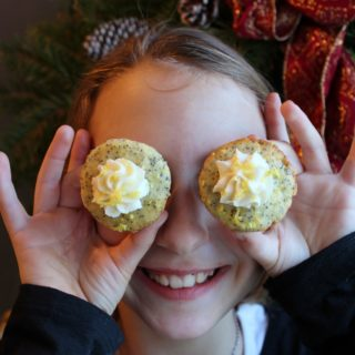Mini Lemon Poppyseed Cupcakes