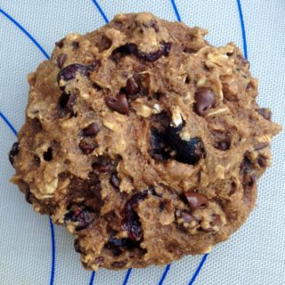 Whole Grain Oatmeal Cookies with Cranberries and Chocolate