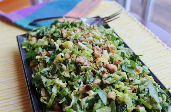 Shaved Brussel Sprouts and Kale Salad - Juggling with Julia