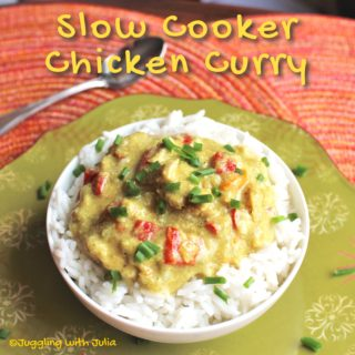 Slow Cooker Chicken Curry and Rice