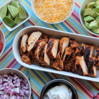 Smashed Chipotle Chicken Tacos