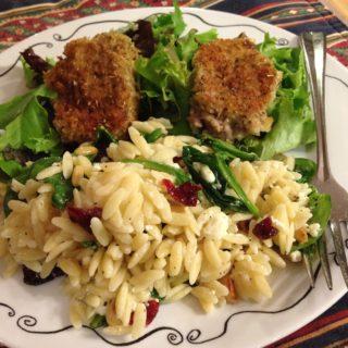 Cranberry Feta Orzo Salad