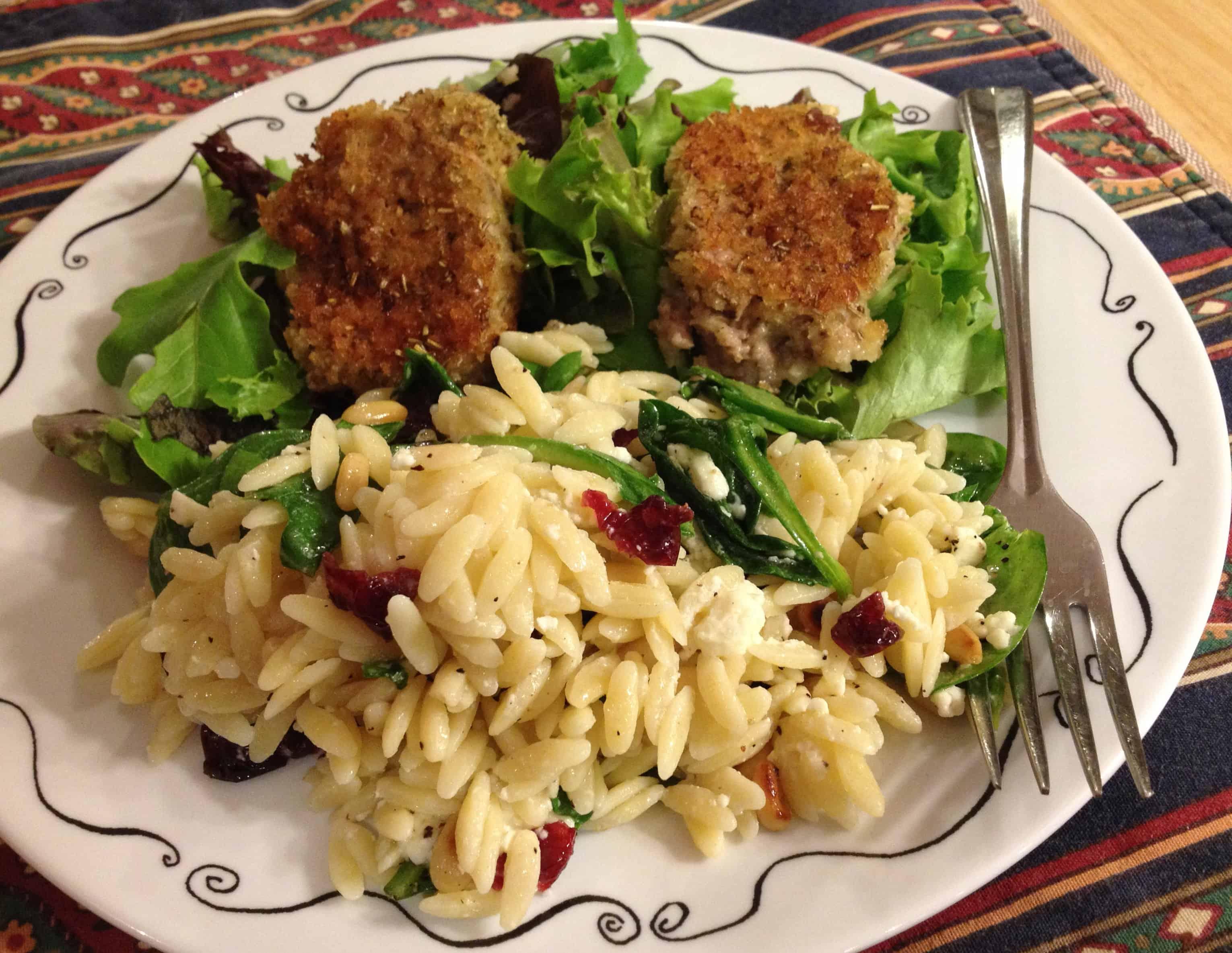 Cranberry Feta Orzo Salad - Juggling with Julia