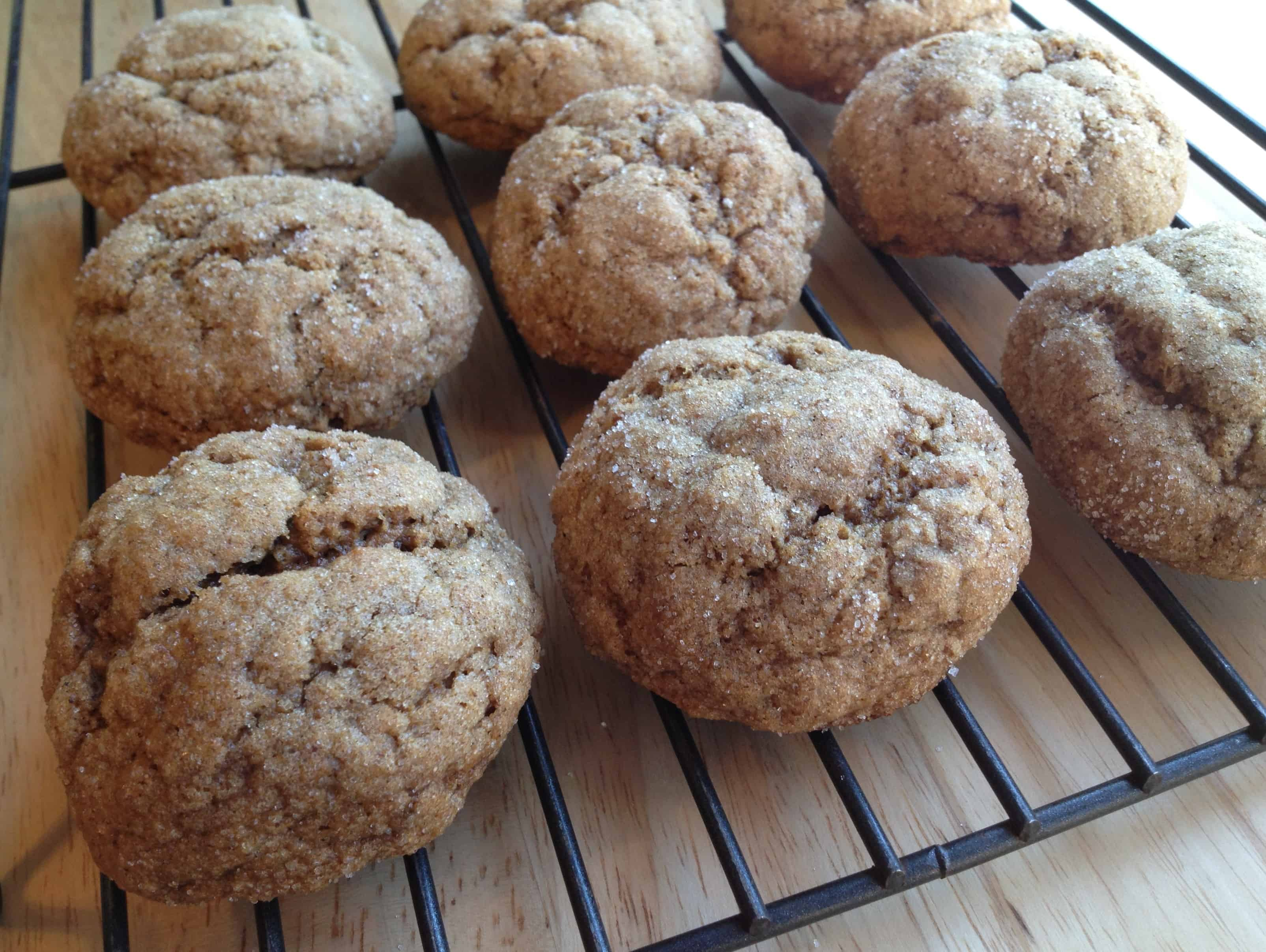 Soft and Chewy Whole Wheat Molasses Spice Cookies - Juggling With ...