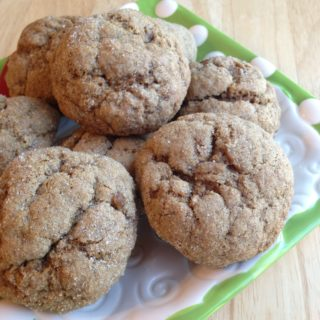 Soft and Chewy Whole Wheat Molasses Spice Cookies
