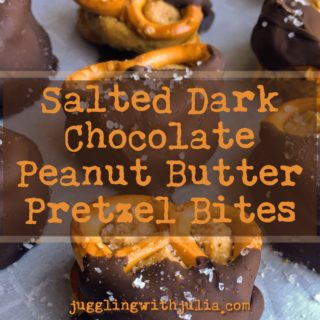 Salted Dark Chocolate Peanut Butter Pretzel Bites