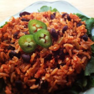 Easy Mexican Brown Rice and Beans by a Reluctant Planner