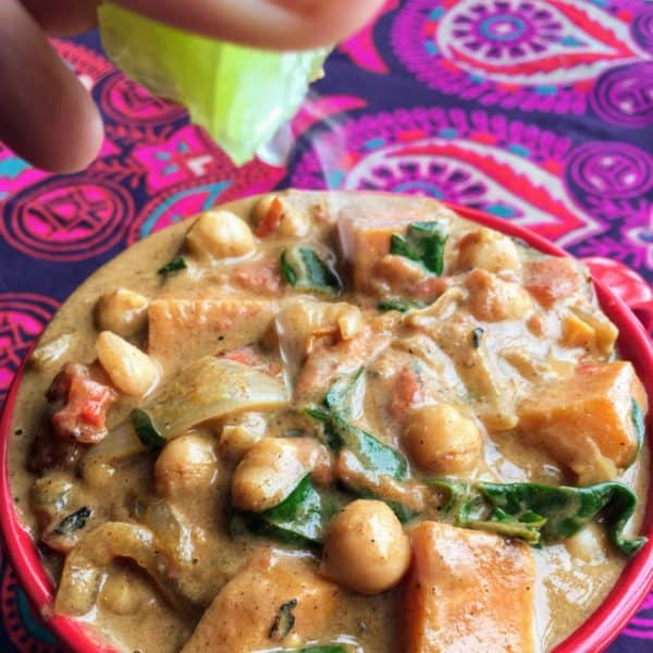 Creamy Chickpea Curry - Juggling with Julia