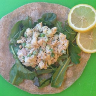 Lemony Chicken Salad with Apples and Peas