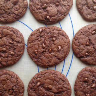 Chewy Double Chocolate Cookies for RD Day