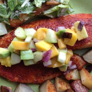 Smoky Spiced Tilapia with Mango Avocado Salsa
