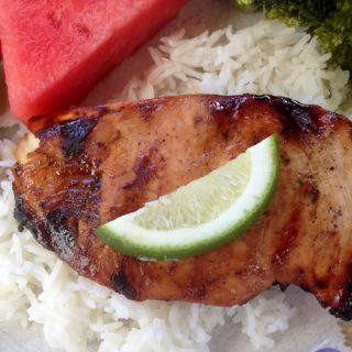 Grilled Thai Chicken with Honey and Lime