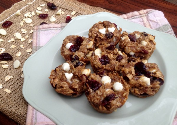 No Guilt Cranberry White Chocolate Cookie Bites -- Juggling With Julia