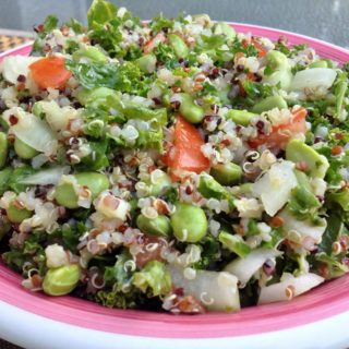 Quinoa Kale Salad with Edamame