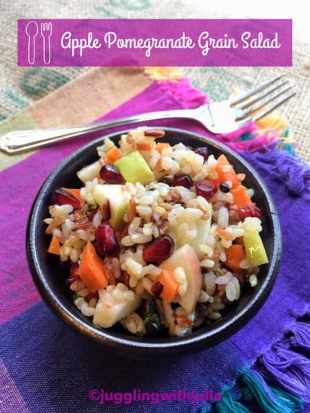 Apple pomegranate grain salad - juggling with julia