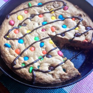 Skillet Candy Bar Cookies