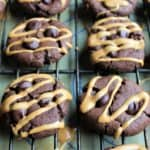Chewy Chocolate Peanut Butter Cookies - juggling with julia