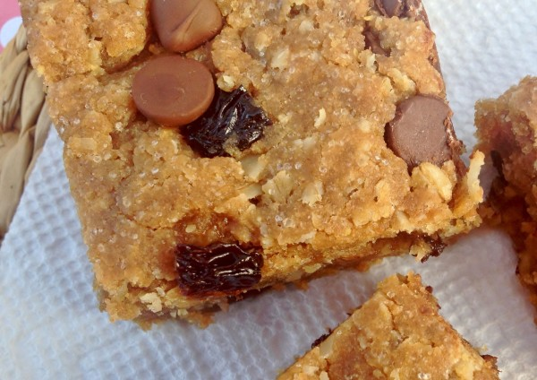 Chewy Peanut Butter Oatmeal Bars -- Juggling With Julia