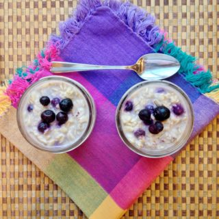 Maple Blueberry Overnight Oats (and all about Maple Sugaring)