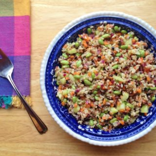 Brown Rice and Edamame Salad with Lime Vinaigrette