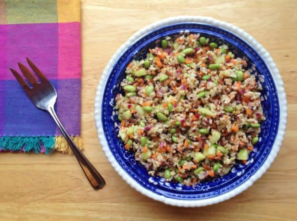 Brown Rice and Edamame with Lime Vinaigrette -- Juggling With Julia