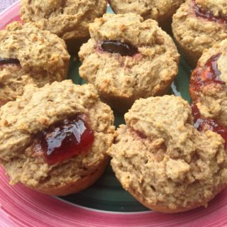 Whole Grain Peanut Butter and Jelly Muffins