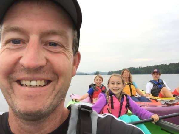 Kayaking on Highland Lake -- Juggling With Julia