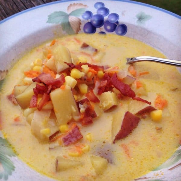 Creamy Corn and Potato Chowder -- Juggling with Julia