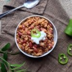 Spanish Brown Rice and Beans with Sausage - Juggling With Julia