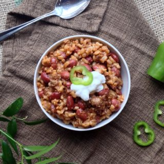 Spanish Brown Rice and Beans