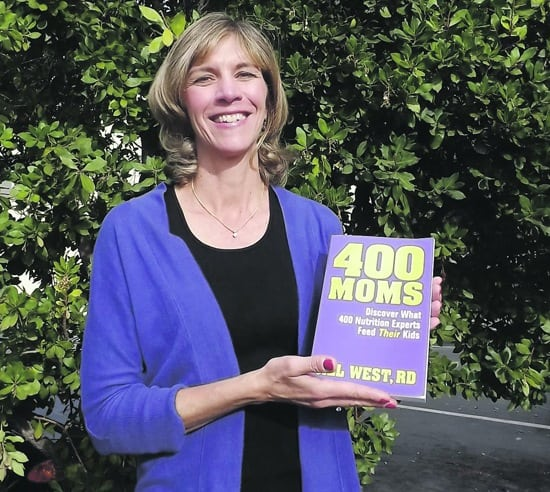 Jill West with 400 Moms book - Juggling With Julia