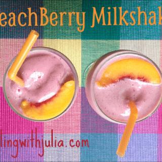Peach Berry Milkshakes for a Cool Summer Treat